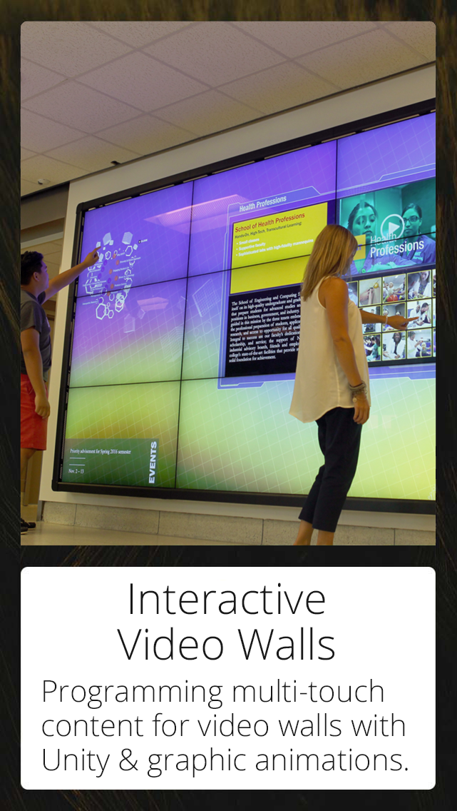 Interactive Video Walls & Touch Screens